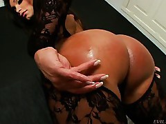 Ass,Babe,Brunette,Lingerie,Masturbation,Pornstar,Stockings
