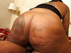 Couple;Vaginal Sex;Oral Sex;Anal Sex;Black-haired;Ebony;Blowjob;Tattoos;Stockings;Cum Shot;Big Ass